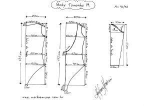 Molde de Body tamanho M (40/42).