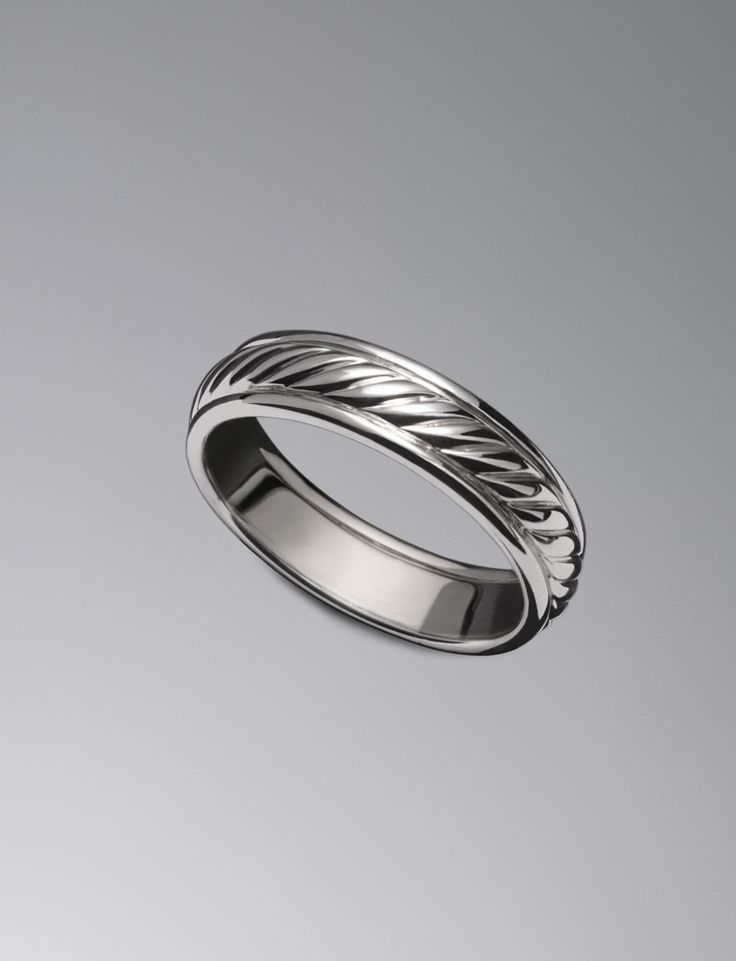 6mm Cable Wedding Band Ring