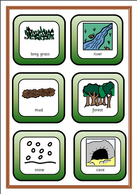 A fun extension for the book 'We're Going on a Bear Hunt' with lots of opportunites for repetitive language, especially when used with a supporting adult.
