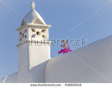 Mykonos  House Roof with Smoke Stack