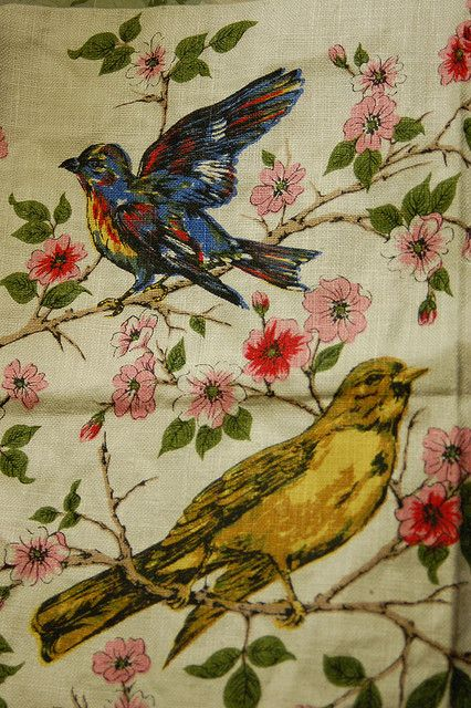 15 Best Images About Bird And Flower Curtains On Pinterest