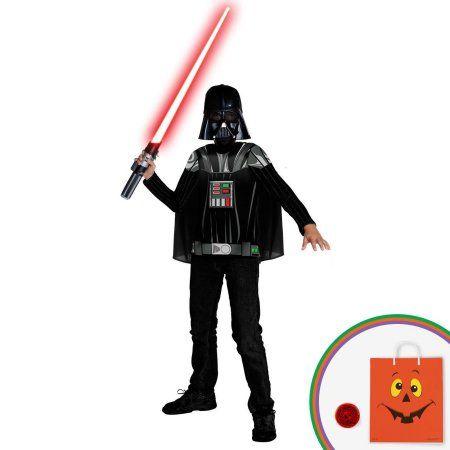 Star Wars - Darth Vader Kit- Child Costume Kit with Free Gift, Boy's, Size: Medium (8-10), Black