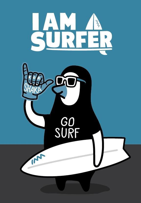 """Iamasurfer"" / Lineup!! Surferhood - illust by CHOPONS"
