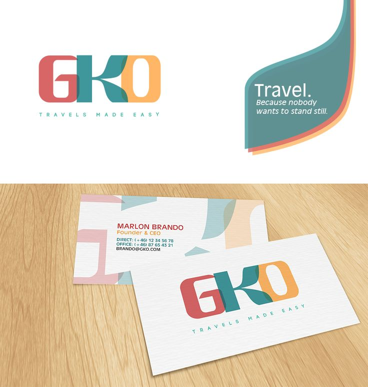 GKO - Travels made easy #logo and #businesscard design | #brandrocket