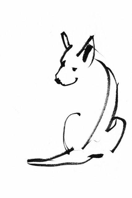 Papir-illustration - Camilla Boman Jensen: Slædehunde / Sled dogs