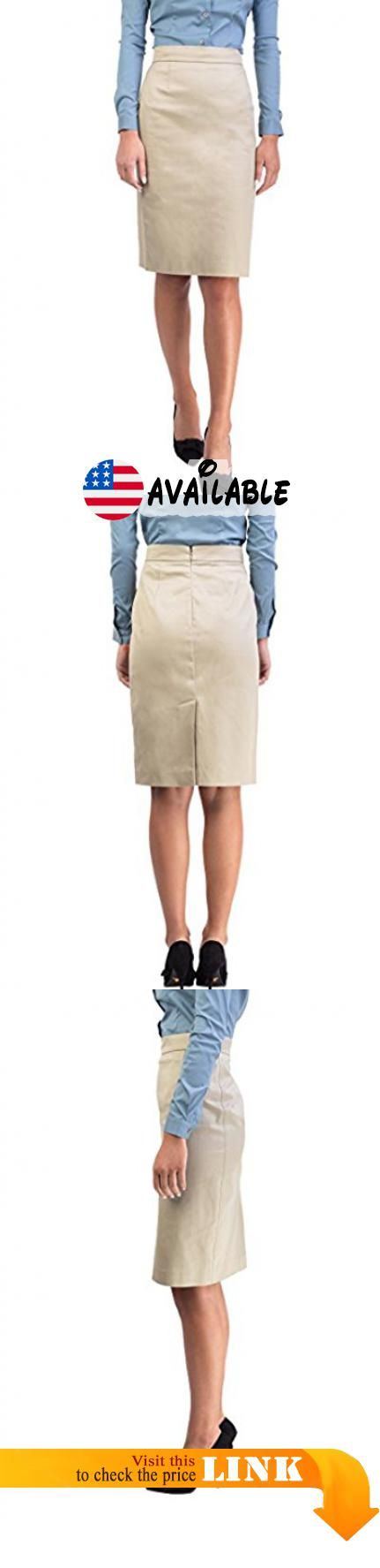 B072J32D45 : Prada Women's Cotton Skirt Khaki. Prada Superior Quality and Design. Back zipper closure. Back slit. 98% Cotton 2% Other fibers. Made in Romania #Apparel #SKIRT