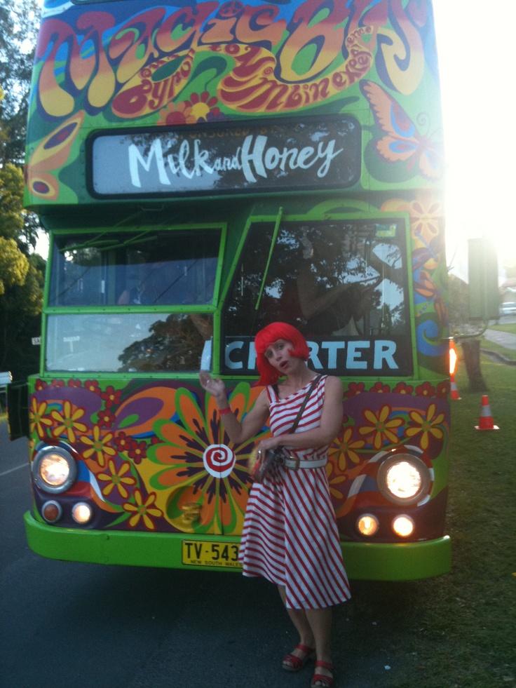 Mullumbimby Music Festival Milk & Honey Love Bus.