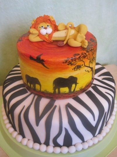 lion cake By GaliaHristovaGuGi on CakeCentral.com