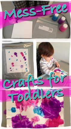 Mess-Free Crafts for Toddlers--PERFECT activity for one year olds from Nourishing Little Souls.com!