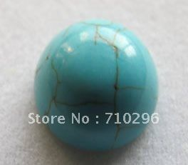 Бирюзовый камень кабошон из бисера Ювелирных Изделий 10 мм Бирюзовый Камень Шарики и камень Кабошон кольцо лица
