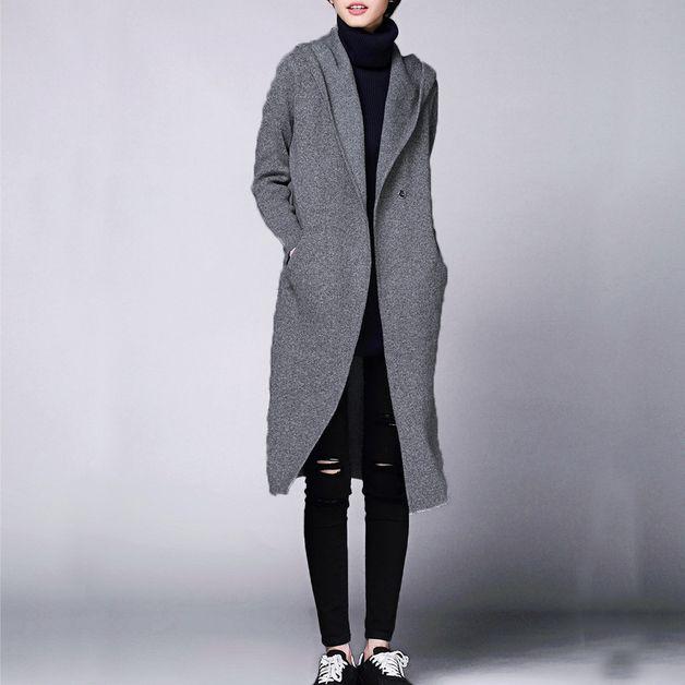 via en.dawanda.com Cardigans – Women Wool Knitwear Cardigans Coat – a unique product by Yuki-Hao888 on DaWanda