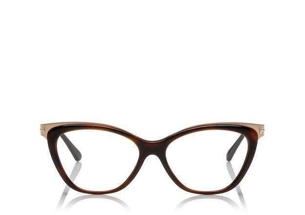 64147ac7135 Gafas de moda perfectas  fotos de los modelos - Gafas cat eye oro y  chocolate Tom Ford