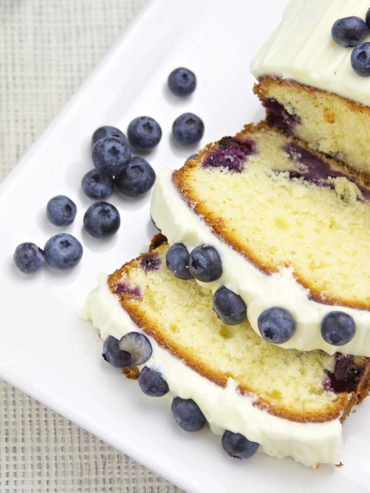 Blaubeeren-Zitronen-Frischkäse-Kuchen
