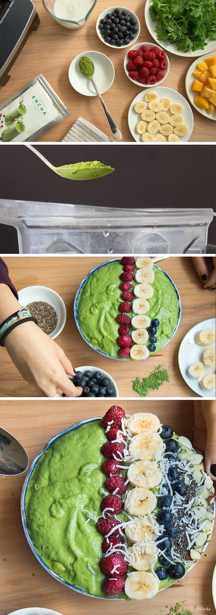 Matcha smoothie bowl! Enjoy the unique zenergy from Encha organic matcha (vegan)