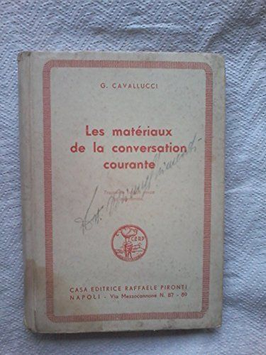 Amazon.it: Scelte d'acquisto: LES MATERIAUX DE LA CONVERSATION COURANTE