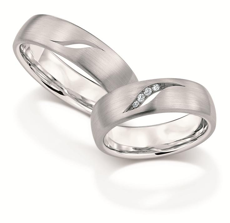 Designer Christian Bauer Matching Bands Platinum Wedding