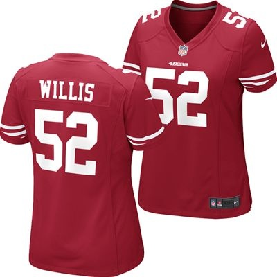 2bbdd302539 ... get san francisco 49ers patrick willis 52 womens replica official nfl  nike game jersey red ff8dc
