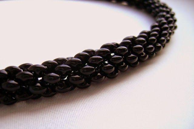Спиральный жгут из твина на 4 бусинки | biser.info - всё о бисере и бисерном творчестве