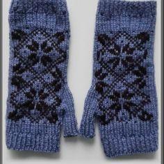 Mitaines jacquard en laine extra fait main en france