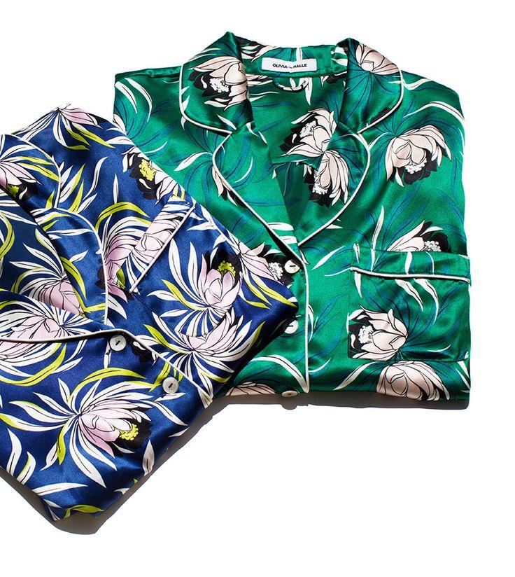 Pajama Party / Olivia von Halle, Silk Pajamas / Garance Doré
