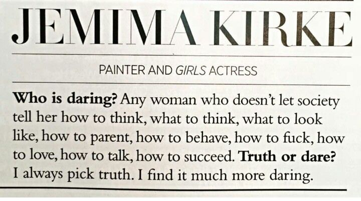"""who is daring"" a fab quote in harper's bazaar 