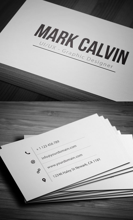 Simple Individual Business Card #businesscards #businesscardtemplates #custombusinesscards: