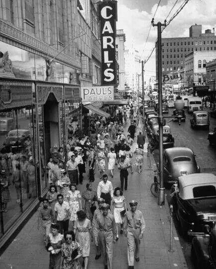 Houston Street San Antonio Texas December 1944 During The