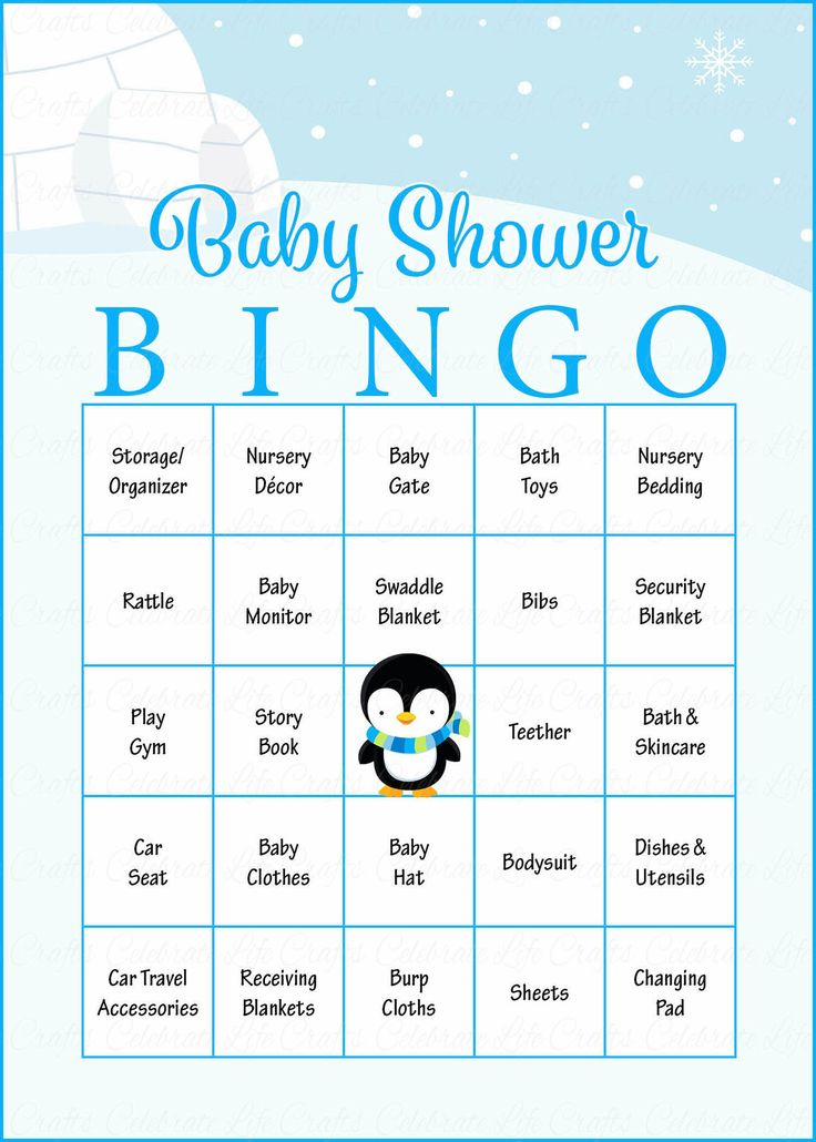 baby bingo baby shower game
