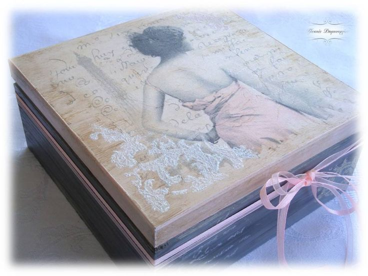 An other decoupage jewelry box, with a theme that I really love and a touch of nostalgia...