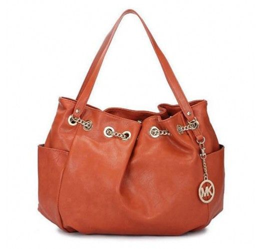 Michael Kors Chain Ring Large Orange Shoulder Bags [mk_1668]