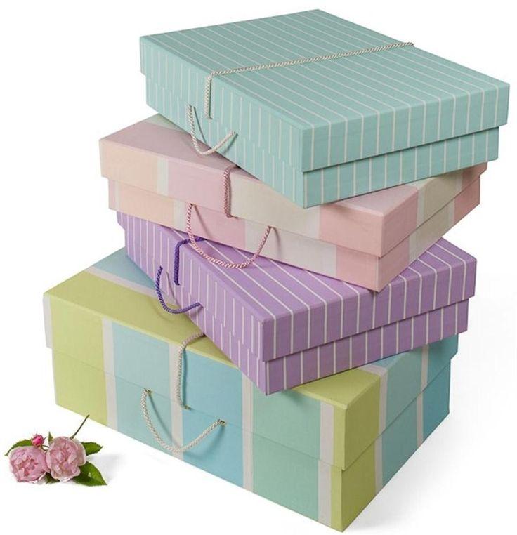 Stack of wedding dress storage box