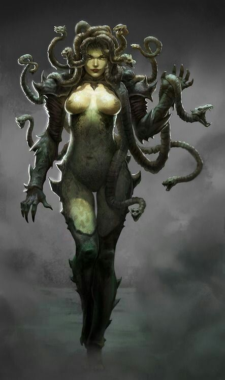 MEDUSA: Greek Mythology Edom Christianity ( come out of her) side effects Effeminate, Emotional, Mental, Nervous, Breakdown or Brainwash.
