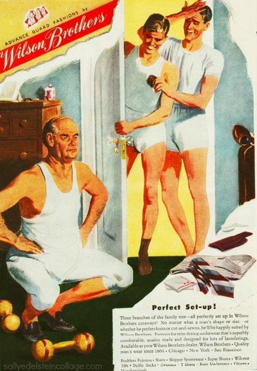 Vintage Ad 1946 Wilsons Underwearfor Men