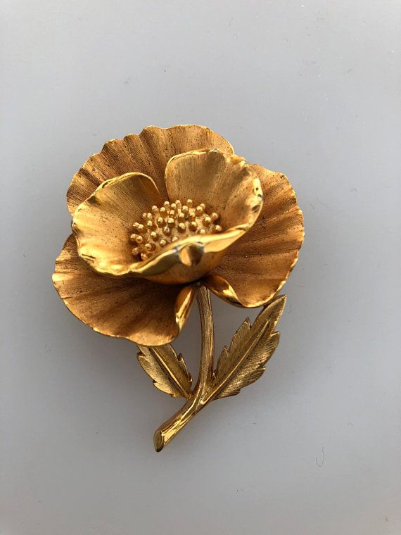 Trifari jewelry flower pin brooch Vintage gift for her