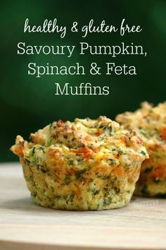 Perfect for back to school or a quick on the go lunch/lunchbox addition, these Savoury Pumpkin Spinach and Feta Muffins are healthy, gluten free and so easy to make!