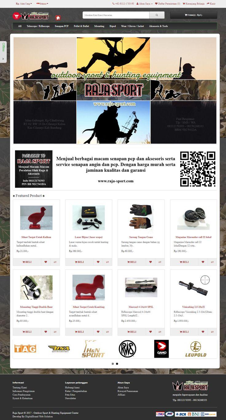Raja Sport - Toko Online Alat Olah Raga Outdoor & Aksesoris. Perlengkapan Berburu. Fokus pada display produk.