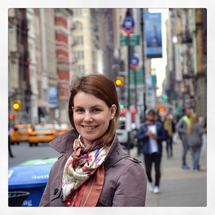 """Kompoloi"" silk scarf by Grecian Chic in New York City!"