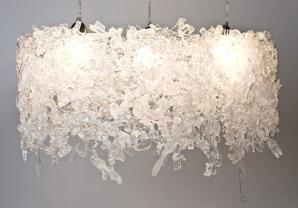 recycled plastic silverware | Recycled Plastic Flatware is Used to Create Modern Lighting Fixtures ...