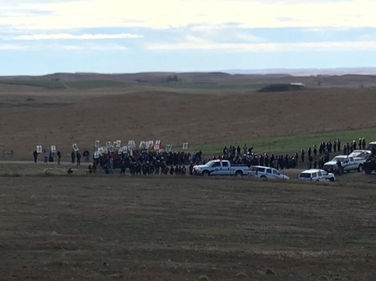Red Warrior Camp spokesman Cody Hall says police tactics used Saturday are reminiscent of the Occupation of Wounded Knee in 1973.
