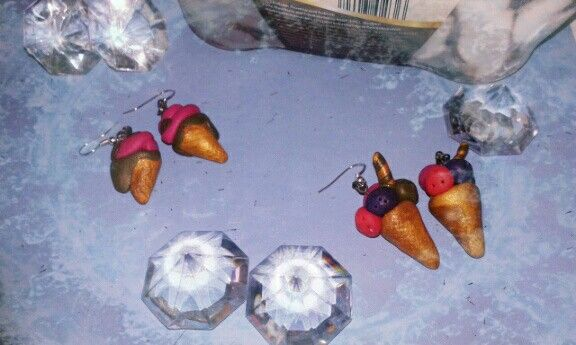 Ice-cream earrings FIMO (I)