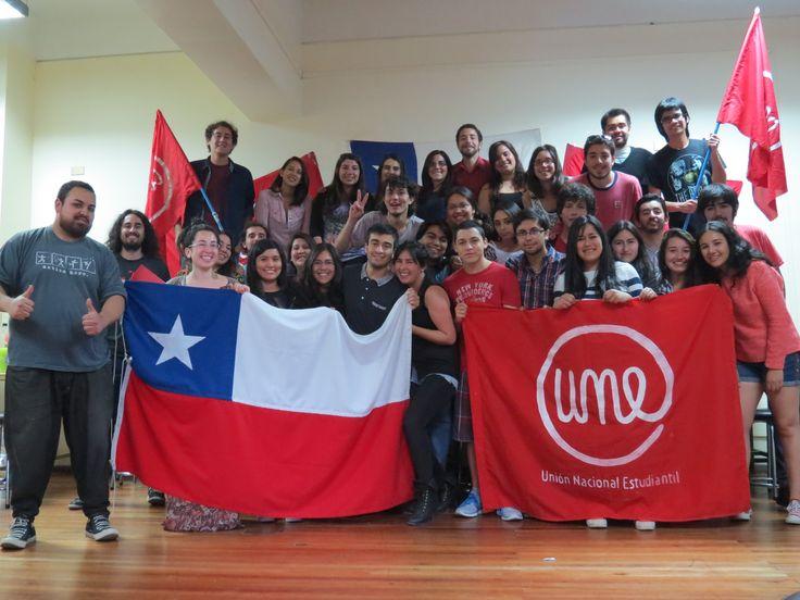 Unionn Nacional Estudiantil, Chile.