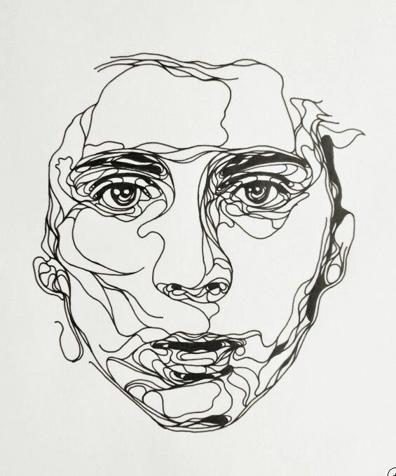 Contour Line Drawing Face : Best images about portraits i love on pinterest