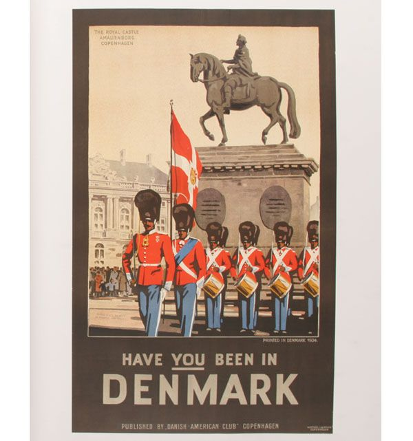 Have You Been In Denmark Vintage Travel Poster