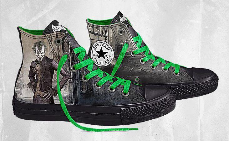 DC Comics x Converse Chuck Taylor All Star Batman Arkham City- Of course, I want these.