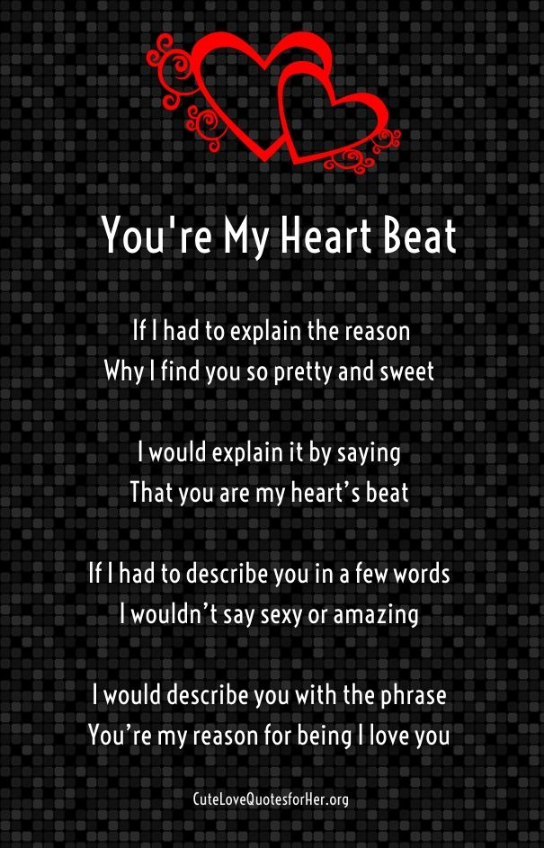 Cute Poems For Her Cute Love Poems For Her Him Pinterest Love Poems Love Quotes And Love