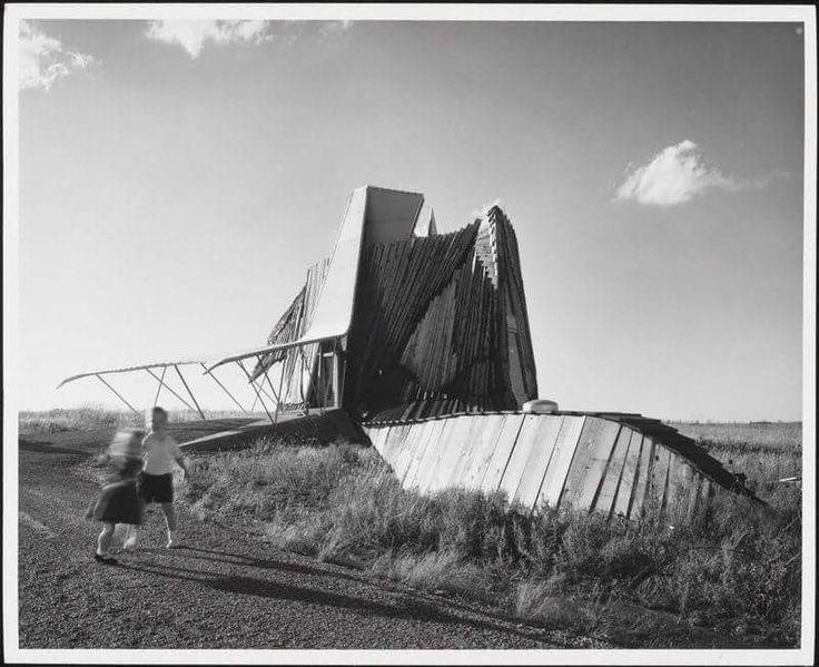 "Julius Shulman, ""Prairie Chicken House"" ,Herb Greene    Sourced at: http://blog.newsok.com/bamsblog/2009/04/29/slideshow-julius-shulman-oklahoma-modernism-rediscovered/"