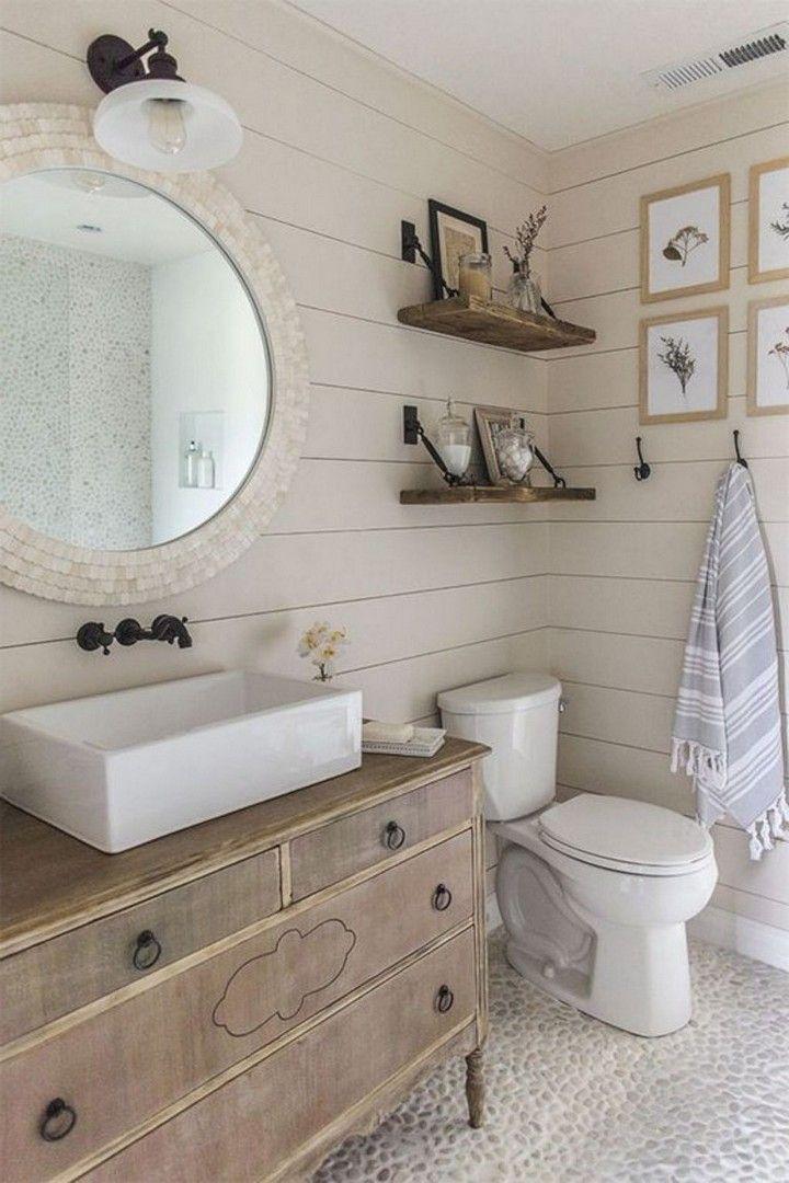 10 Beautiful Farmhouse Bathroom Design And Decor Ideas You Will Go Crazy For In 2020 Coastal Bathroom Decor Coastal Style Bathroom Beach Bathroom Decor