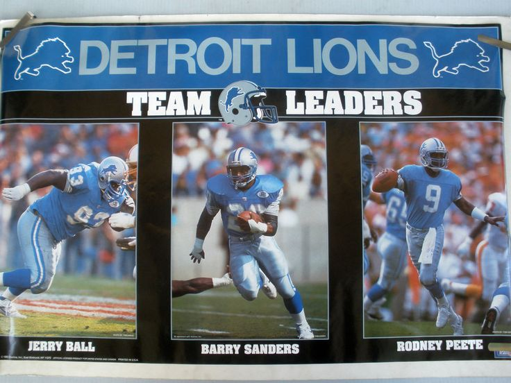 Detroit Lions Posters   RARE DETROIT LIONS TEAM STARS 1992 VINTAGE ORIGINAL NFL STARLINE POSTER   eBay