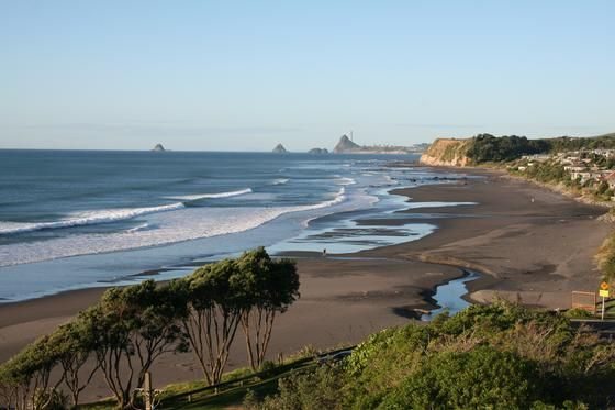 TARANAKI, NZ: OAKURA BEACH This is one of the most popular beaches in the New Plymouth area, attracting swimmers, families and surfers.