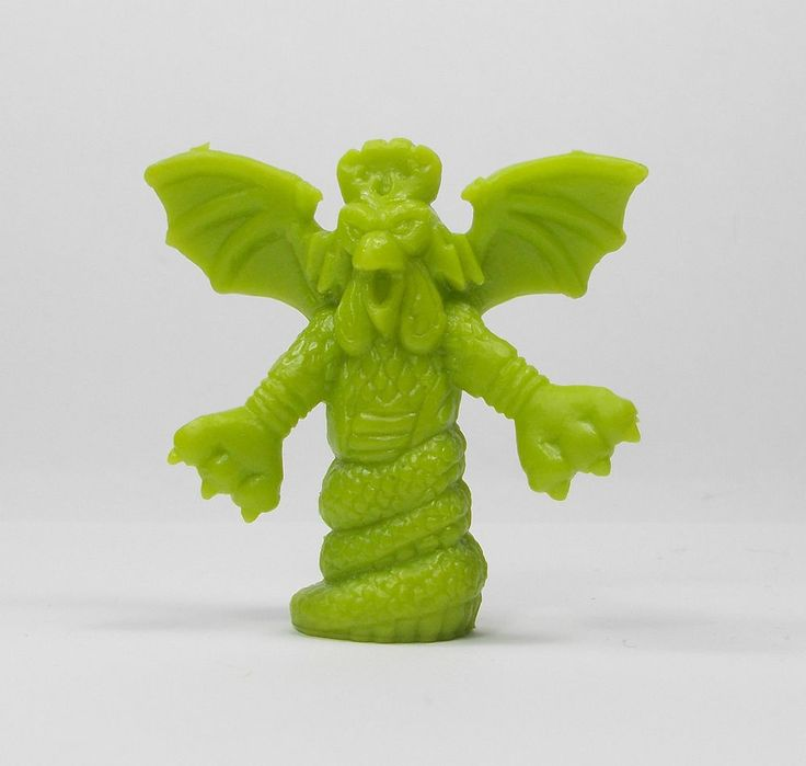 Monster In My Pocket - Series 1 - 7 Cockatrice - Olive Green - Mini Figure
